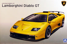 Load image into Gallery viewer, Aoshima 1/24 Lamborghini Diablo GT Plastic Model Kit 01050