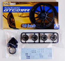 "Load image into Gallery viewer, Aoshima 1/24 Rim & Tire Set ( 36) GTC01RR 19"" 05331"