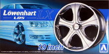 "Load image into Gallery viewer, Aoshima 1/24 Rim & Tire Set ( 88) Lowenhart LOS LX 19"" 55304"
