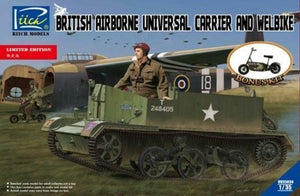 Riich 1/35 British Airborne Universal Carrier And Welbike 35034