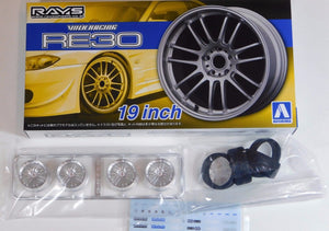 "Aoshima 1/24 Rim & Tire Set ( 48) Volk Racing RE30 19"" 05381"