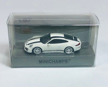 Load image into Gallery viewer, Minichamps 1/87 HO Porsche 911 R White / Black Stripes 870066226