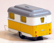 Load image into Gallery viewer, Busch 1/87 HO Nagetusch Camper Camping Trailer Yellow/White 51701