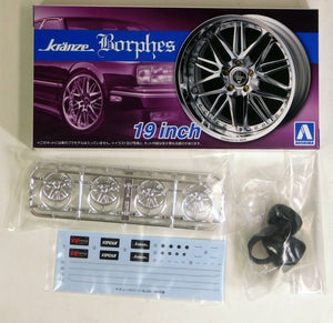 "Aoshima 1/24 Rim & Tire Set ( 86) Kranze Borphes 19"" 05528"