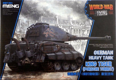 Meng Kids World War Toons Snaptite German King Tiger w/ Porsche Turret WWT-003