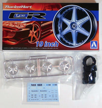 "Load image into Gallery viewer, Aoshima 1/24 Rim & Tire Set ( 60) Racing Hart Type CR 19"" 05393"