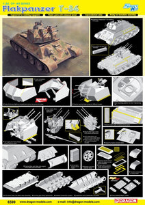 Dragon 1/35 German Flakpanzer T-34r - Smart Kit 6599
