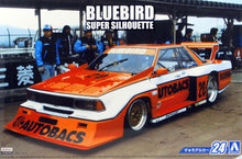 Load image into Gallery viewer, Aoshima 1/24 Nissan Bluebird Super Silhouette #24 Plastic Kit 05231