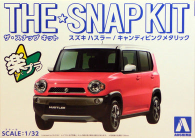 Aoshima Snap Kit 1/32 Suzuki Hustler Cotton Candy 05415