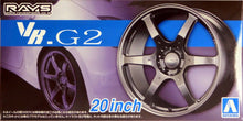 "Load image into Gallery viewer, Aoshima 1/24 Rim & Tire Set ( 83) VOLK Racing VR.G2 20"" 05517"