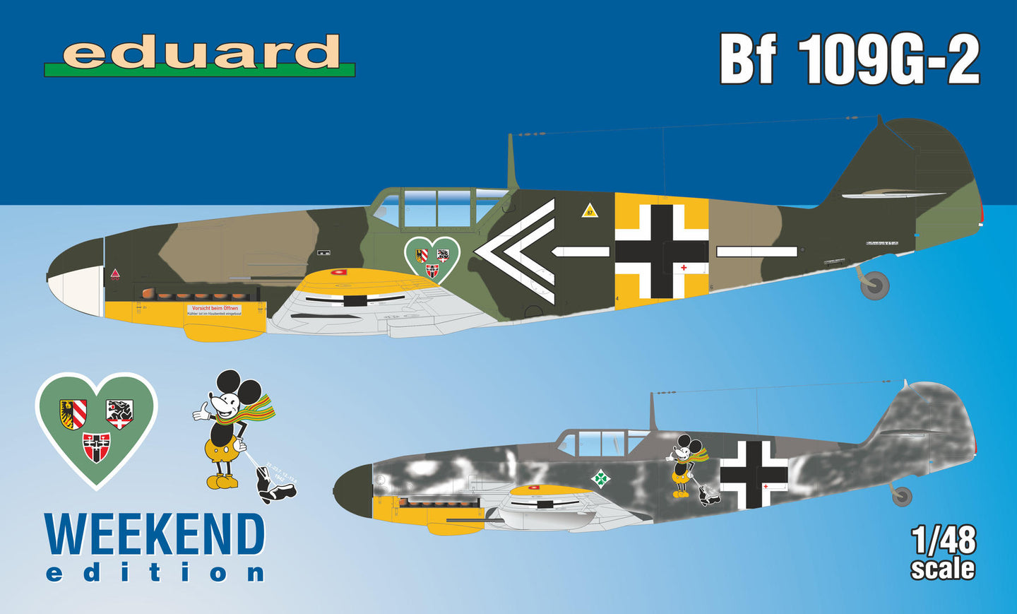 Eduard 1/48 German Bf109G-2 Weekend edition 84148