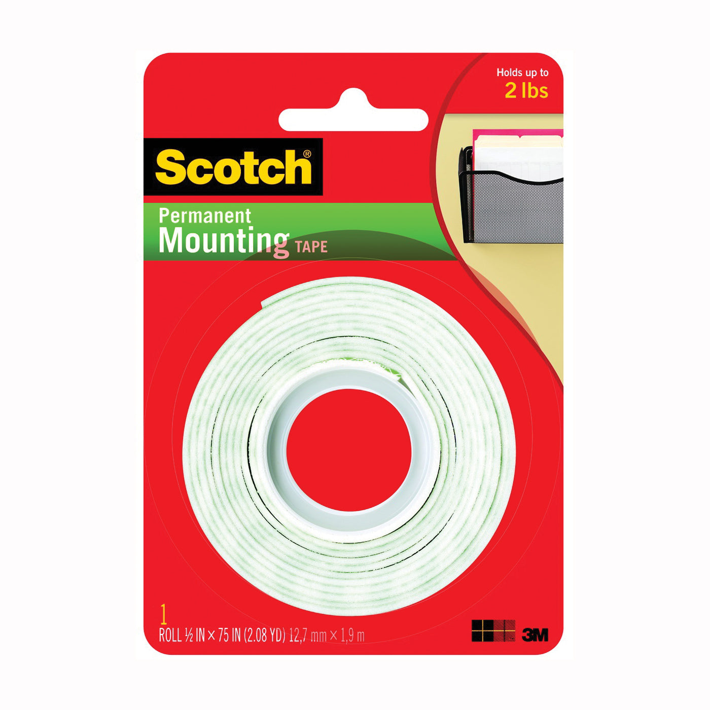 3M Scotch Foam Mounting Tape 1/2