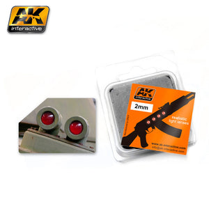 AK Interactive AK207 Lenses  2mm red