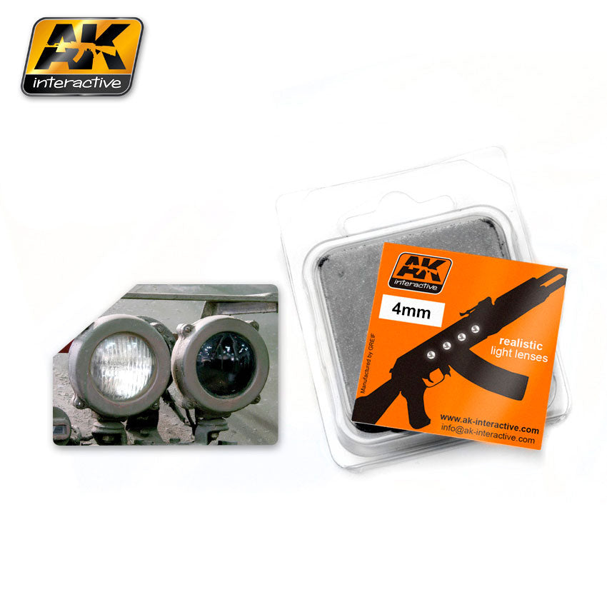 AK Interactive AK215 Lenses 4mm White