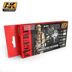 AK Interactive AK3020 M44 Camo Uniform Paint Set