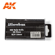 Load image into Gallery viewer, AK Interactive AK9015 Microbox HSS Twist Drills 0.3-1.6mm