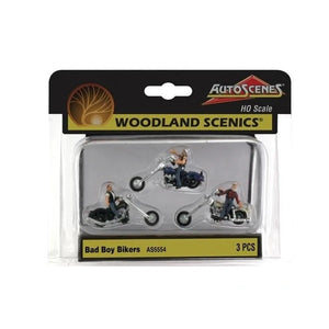 Woodland Scenics 1/87 HO Bad Boy Bikers AS5554