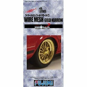 "Fujimi 1/24 Wheel Series Wire Mesh Gold Wide 15"" 192826"