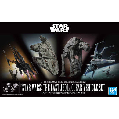 Bandai Star Wars The Last Jedi Clear Vehicle Set Various Scales 5058919