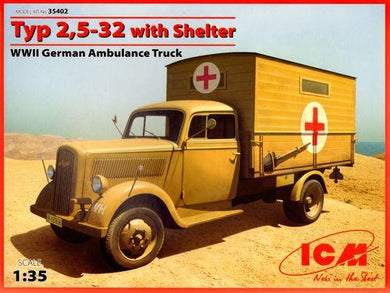 ICM 1/35 German Typ 2,5-32 Ambulance Truck With Shelter 35402