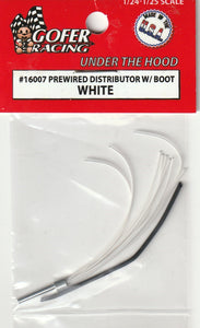 Gofer Racing 1/25 Prewired Distributor W/ Boot White 16007