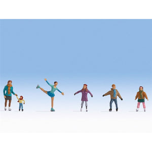 Noch 1/87 HO Ice Skaters Figure Set (6) 15824