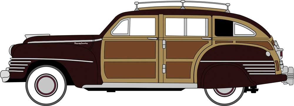 Oxford 1/87 HO 87CB42001 Chrysler Town & Country Woody Wagon 1942 Regal Maroon COMING SOON