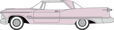 Oxford 1/87 HO 87IC59001 Imperial Crown Coupe 1959 Persian Pink / White COMING SOON