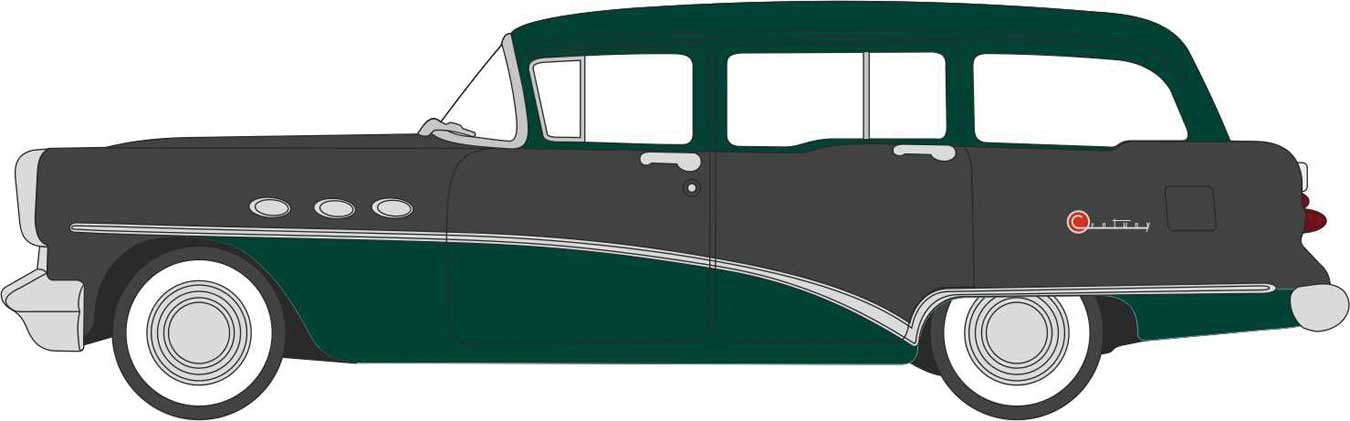 Oxford 1/87 HO 87BCE54002 Buick Century Estate Wagon 1954 Green / Black COMING SOON