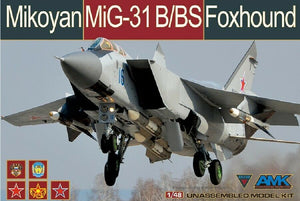 "AMK 1/48 MiG31B/BS Foxhound Fighter ""73 Blue"" Model Kit 88008"