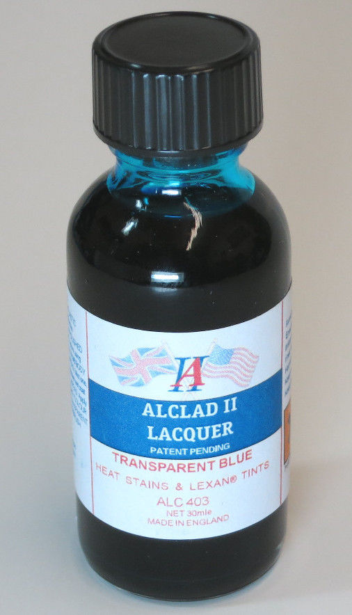 Alclad ALC403 1oz. Transparent Blue Lacquer Paint