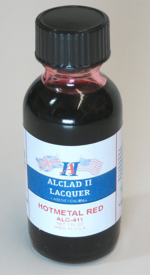Alclad ALC411 1oz. Hot Metal Red Lacquer Paint