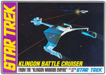 Load image into Gallery viewer, AMT Star Trek 1/650 Klingon Battle Cruiser Std Ed AMT720