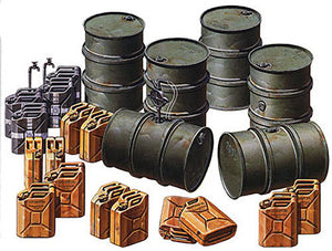 Tamiya 1/35 German Fuel Drum Set 35186