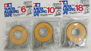 Tamiya 87030C Masking Tape w/ Dispensers Combo Pack 6mm-10mm-18mm