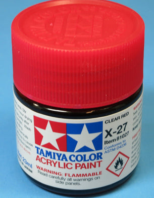 Tamiya Acrylic 23ml 81027 X-27 Clear Red