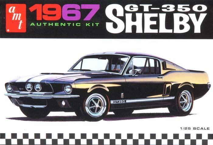 AMT 1/25 Shelby GT350 in White Plastic 1967 Model Kit AMT800