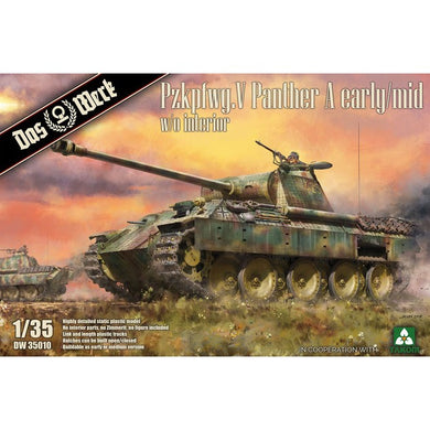 Das Werk 1/35 Pzkpfwg.V Panther A Early/Mid w/o Interior DW35010