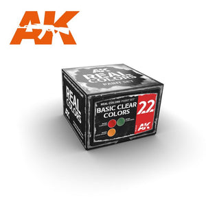 AK Interactive RCS022 Real Color Lacquer Basic Clear Colors Set