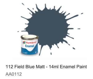 Humbrol Enamel 14ml (112) Field Blue Matt AA0112 (DISC)