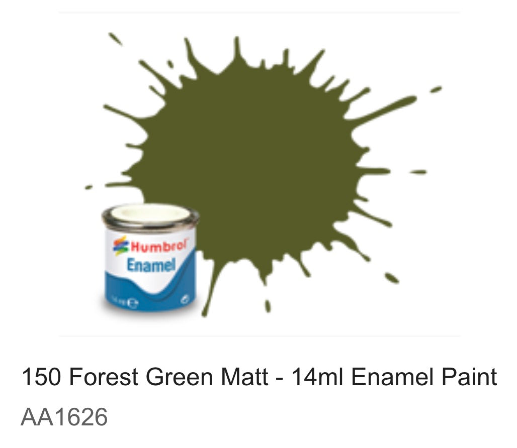 Humbrol Enamel 14ml (150) Forest Green Matt AA1626