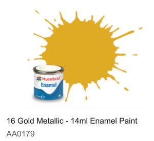 Humbrol Enamel 14ml ( 16) Gold Metallic AA0179
