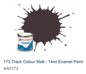 Humbrol Enamel 14ml (173) Track Colour Matt AA0173