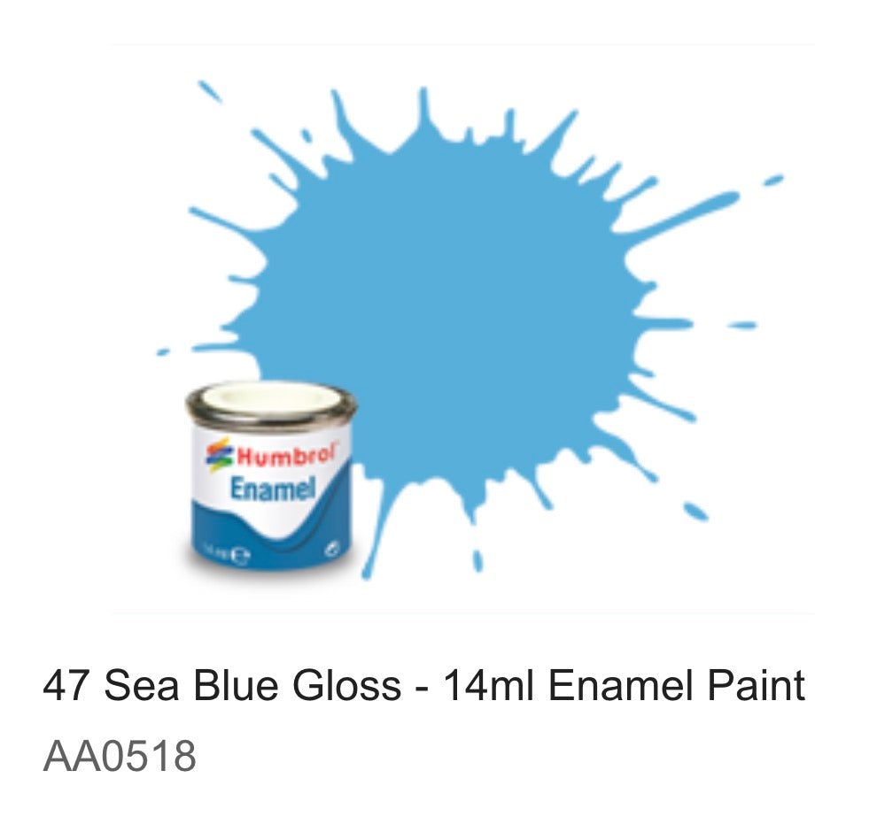 Humbrol Enamel 14ml ( 47) Sea Blue Gloss AA0518