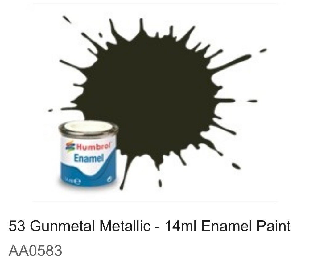 Humbrol Enamel 14ml ( 53) Gunmetal Metallic AA0583