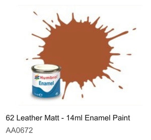 Humbrol Enamel 14ml ( 62) Leather Matt AA0672