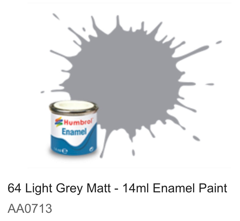 Humbrol Enamel 14ml ( 64) Light Grey Matt AA0713