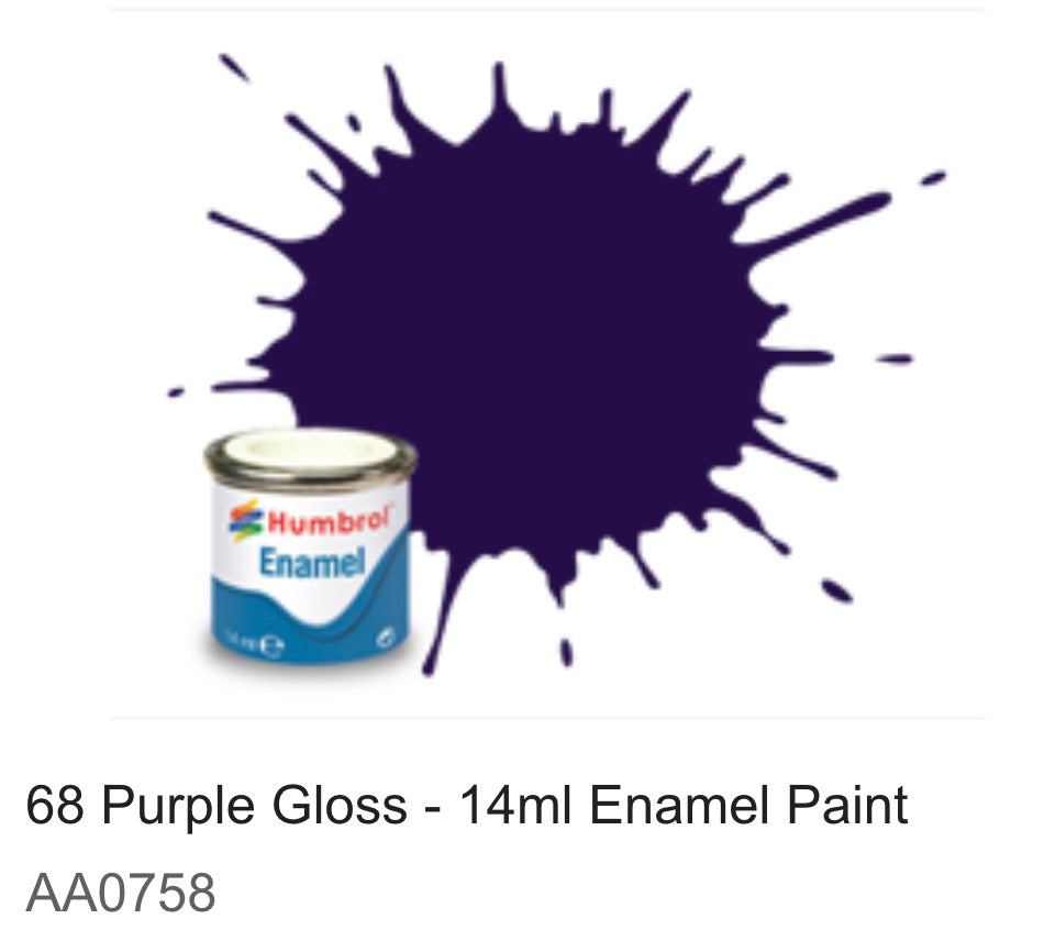 Humbrol Enamel 14ml ( 68) Purple Gloss AA0758