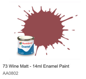 Humbrol Enamel 14ml ( 73) Wine Matt AA0802