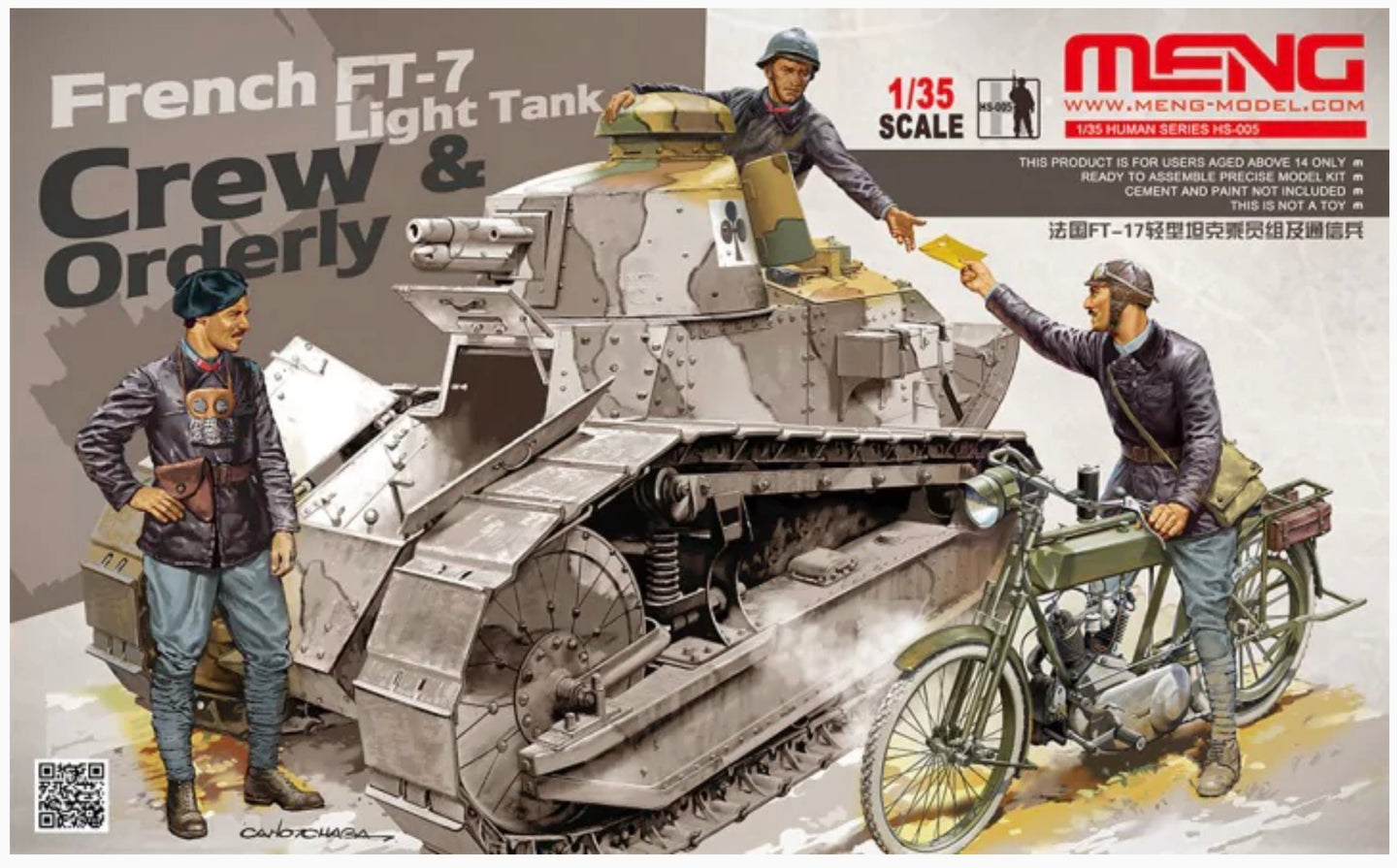 Meng 1/35 French Ft-17 Crew and Orderly HS-005